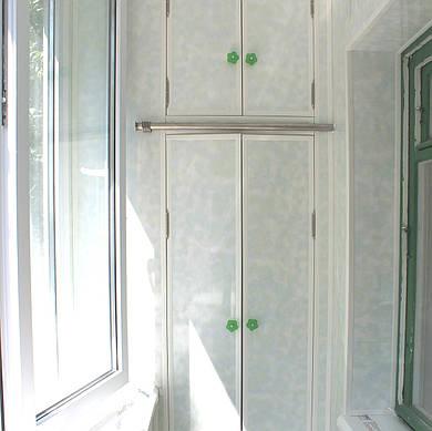 Обшивка балкона пластиковой вагонкой