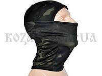 Шлем-маска полиэстер камуфляж темный