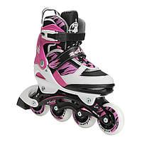 Роликовые коньки детские ZELART SPRINT (PL, PVC, колесо PU, алюм. рама, розовый)