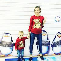 "Комплект свитшот мама  и ребенок ""Тедди"""