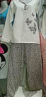 Пижама на байке с длинным рукавом 42-48 ,доставка по Украине