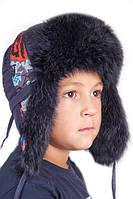 Детская шапка-ушанка для мальчика с завязками