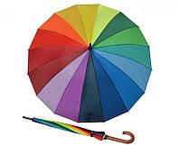 Яркий механический женский зонт-трость DOPPLER 74130R, радуга