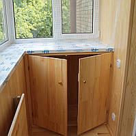 Обшивка балкона деревянной вагонкой