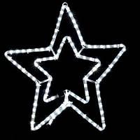 Светодиодная фигура  Motif Star 58см белый  230V 12W  IP44 DeLux