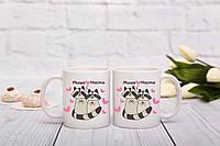 Чашки с енотом для влюбленных