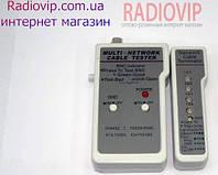Портативный кабельный тестер витой пары мультифункциональный (RJ-11,RJ-45,BNC)