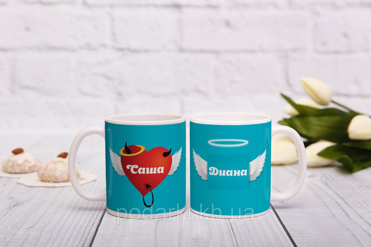 Парные чашки Ангел и Чертенок