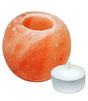 Гималайская розовая соль Подсвечник Шар Natural