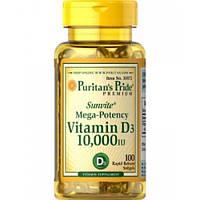 Vitamin D3 10000 IU Puritan's Pride, 100 капсул