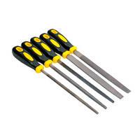 Напильники по металлу 5 шт, 200 мм, плоский/круглый/полукруглый/трёхгранный/квадратный