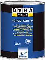 Грунт-наполнитель универсальный DYNA Acrylic Filler 4 + 1 +отвердитель HARD(3л + 0.75л)