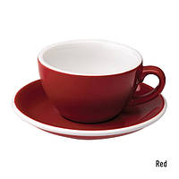 Чашка и блюдце для капучино Loveramics Egg Cappuccino Cup & Saucer Red (200 мл)