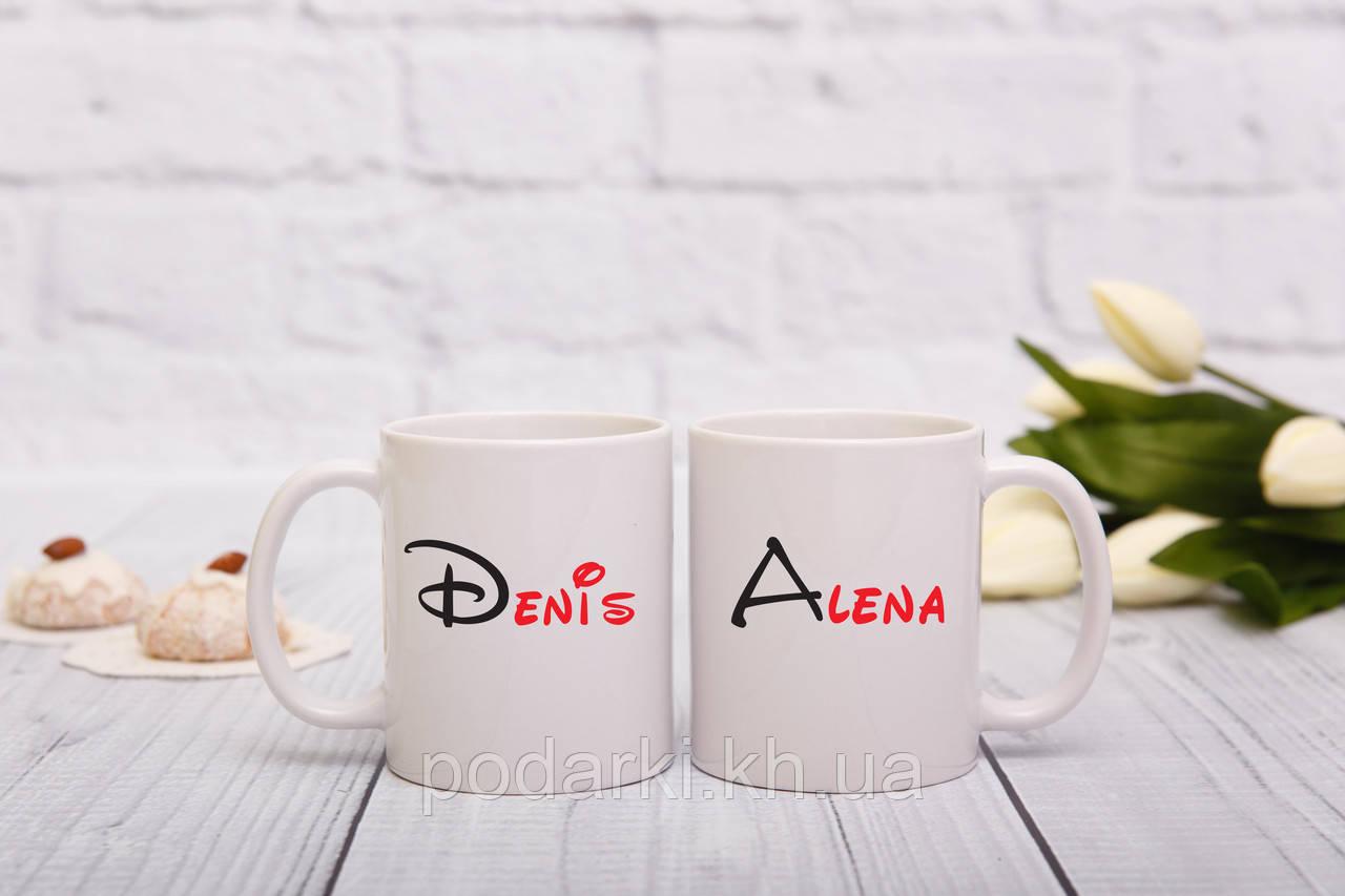 Веселые парные чашки