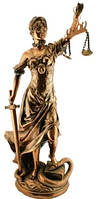 Статуэтка Фемида из каменно крошки покрытая латунью, 250х560х200