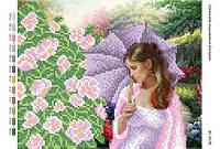 """Схема для частичной вышивки бисером """"Летний день в саду"""""""