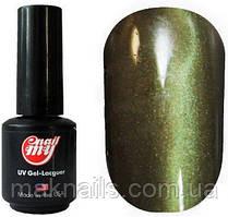 Гель-лак My Nail System № 106 зеленый бутылочный с золотым шиммером 9мл