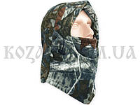 Шлем-маска из полар-флиса на затяжке дубок серый