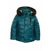 Goldy Комплект куртка+напівкомбінезон р86, 92, 98, 104 зелений/чорний овчина