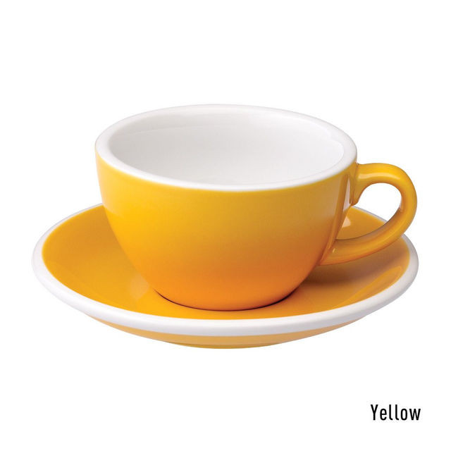 Чашка и блюдце для капучино Loveramics Egg Cappuccino Cup & Saucer Yellow (200 мл)