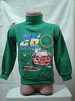 Гольф-водолазка на мальчика (машинки Racing) 1-3 года
