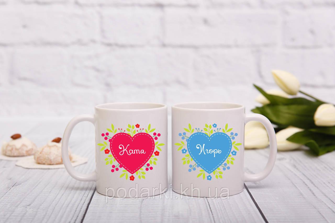Парные чашки с летними мотивами