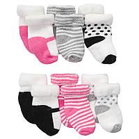 Комплект махровых носочков для девочки Carters Микс, Размер 0-3, Размер 0-3