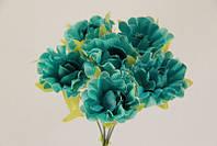 Цветок искуственный бирюзовый, фото 1