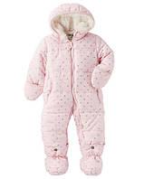 Зимний комбинезон для новорожденных девочек + верняя одежда
