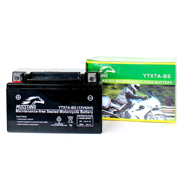 Аккумулятор гелиевый на мотоциклы (7 А/ч, YTX7Z-BS)