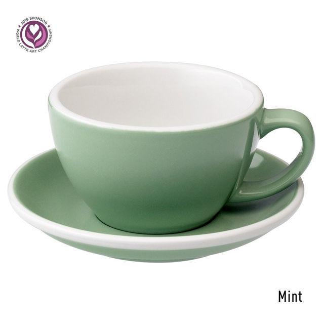 Чашка и блюдце для латте Loveramics Egg Café Latte Cup & Saucer (Mint) (300 мл)