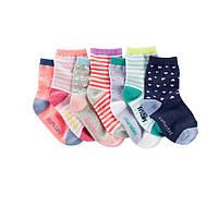Комплект носочков для девочки OshKosh Микс, Размер 4-7, Размер 2-3