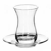 Набор стаканов с блюдцами 6х160мл для чая 96308