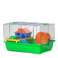 INTER-ZOO G036 Клетка для грызунов TEDDY LUX (оцинковка) + Комплект (пластик) 420*290*260