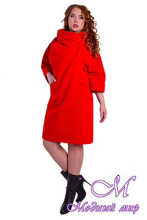 Женское свободное пальто больших размеров (р. XL-4XL) арт. Эльгранде донна 5495, фото 2
