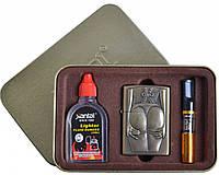 Подарочный набор SEXY 3в1 Зажигалка, бензин, мундштук №4713-7 SO