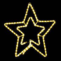 Светодиодная фигура  Motif Star 58см желтый  230V 12W  IP44 DeLux