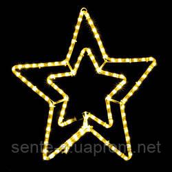 Светодиодная фигура  Motif Star 54см желтый  230V 12W  IP44 EN DeLux