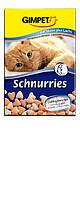 Gimpet Schnurries витамины для кошек с таурином и лососем (650 шт)
