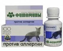 Фитомины - Против аллергии для кошек