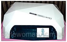Профессиональная гибридная уф лампа CCFL+LED 36вт Dimond белая