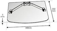 Полка скло OPTICUM 300х250х5