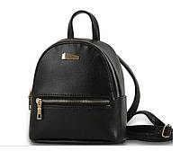 Маленький женский черный рюкзак