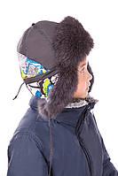 Детская шапка-ушанка с мехом