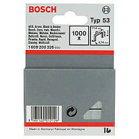 Скрепки Bosch 1000шт 6мм ТИП 53, 1609200326