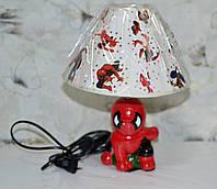 Лампа настольная, 1лампа, высота лампы - 30 см, диаметр абажура - 25