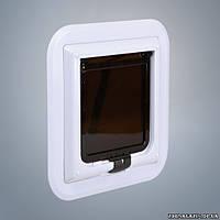 Дверца для кошек (для стеклянной двери), Trixie 4-Way Cat Flap XL especially for Glass (3880)