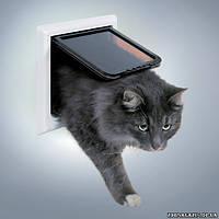 Дверца для крупных котов и мелких собак Trixie 4-Way Cat Flap XL with Tunnel (3867)