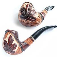 """Курительная трубка """"Сказка"""" Кленовый лист резной"""