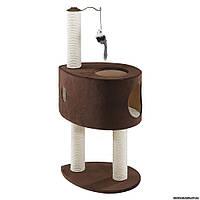 Ferplast PA 4019 когтеточка с домиком для кошек, 44 x 33 x h 88 см.